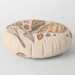 Pie Baking Collection Floor Pillow