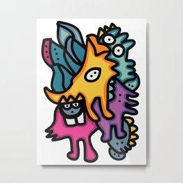 Multicolor Bunch of Graffiti Art Cool Friends Metal Print