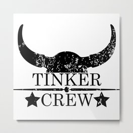 Tinker crew wild west emblem black Metal Print