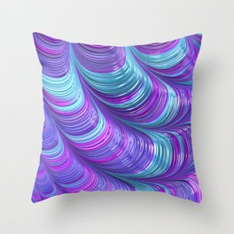 Jewel Tone Abstract Throw Pillow
