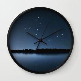 Draco star constellation, Night sky, Cluster of stars, Deep space, Dragonconstellation Wall Clock