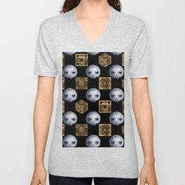 Chibi Pinhead & Puzzle Boxes Unisex V-Neck