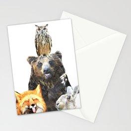 Woodland Animal Friends Stationery Cards