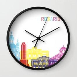 Rosario skyline pop Wall Clock