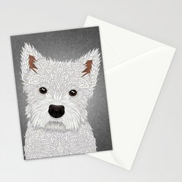 Cute West Highland Terrier Portrait Stationery Cards