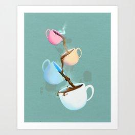 Coffee Fountain  Art Print