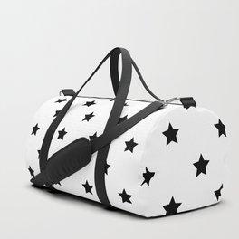 Black and white Star Pattern Sporttaschen