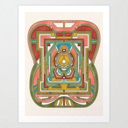 Butterfly Express - Art Nouveau Design Art Print