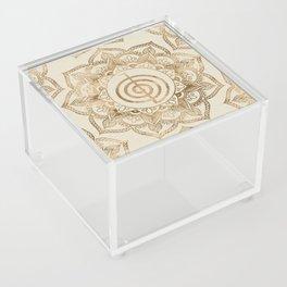 Cho Ku Rei - pastel gold lotus mandala Acrylic Box