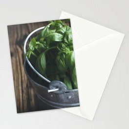 Basil in bucket Stationery Cards