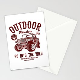 Outdoor adventure, go into the wild - Awesome outdoor adventure lover Gift Stationery Cards