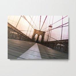 Brooklyn Bridge, New York City Metal Print