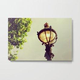 Old english lantern in London city - Fine Art Travel Photography Metal Print
