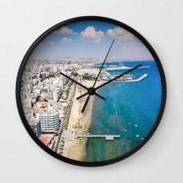Larnaca Finikoudes Coast Wall Clock
