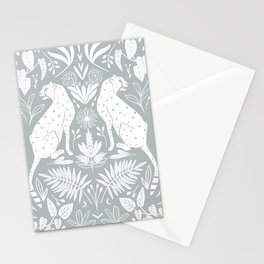Light blue and white cheetah print Stationery Cards