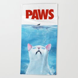 PAWS Cat Beach Towel
