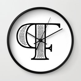 PF monogram Wall Clock