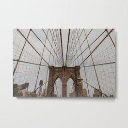 Brooklyn Bridge NYC | Fine Art Travel Photography Metal Print