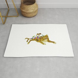 Korea style surf art series _ Ho-jak-do(Tiger and Magpie Paintings) Rug