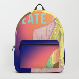 Create The Rainbow | Digital Art | Woman of Color Backpack
