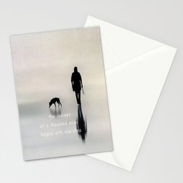 man and dog Stationery Cards