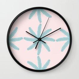 Leaflet Pinwheel Pattern Wall Clock