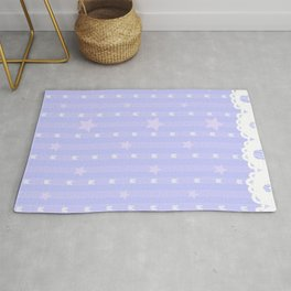 Kawaii Blue Rug