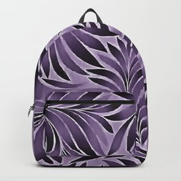 Awesome Leaves Pattern In Lilac and Grey Backpack