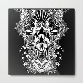Tribal Mural Metal Print