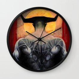 Aries Iron Bull zodiac tarot card dragon age inquisition Wall Clock