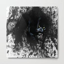 panther black white Metal Print