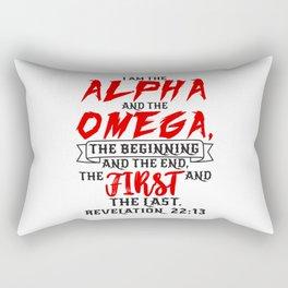Revelation 22:13 Rectangular Pillow