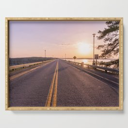 Sunset Road Serving Tray