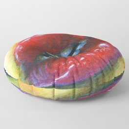 Lips study #4 Floor Pillow