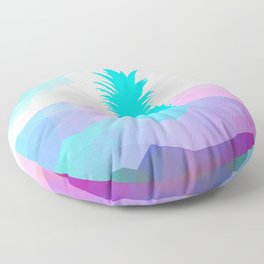 Sunny Sea Pineapple Geometric Summer Vibes Floor Pillow