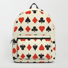 Vintage Playing Card Symbols hand drawn illustration pattern Backpack