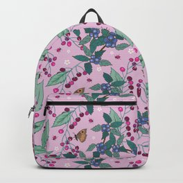 Cherries and Sloes pattern Backpack