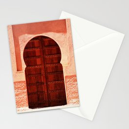 Masala Chai - Red Door in India - Millenial Pink Magenta Maroon - Antique Eclectic Travel Architecture Stationery Cards