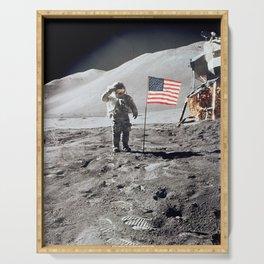 Apollo 15 - Dave Scott Military Salute Serving Tray