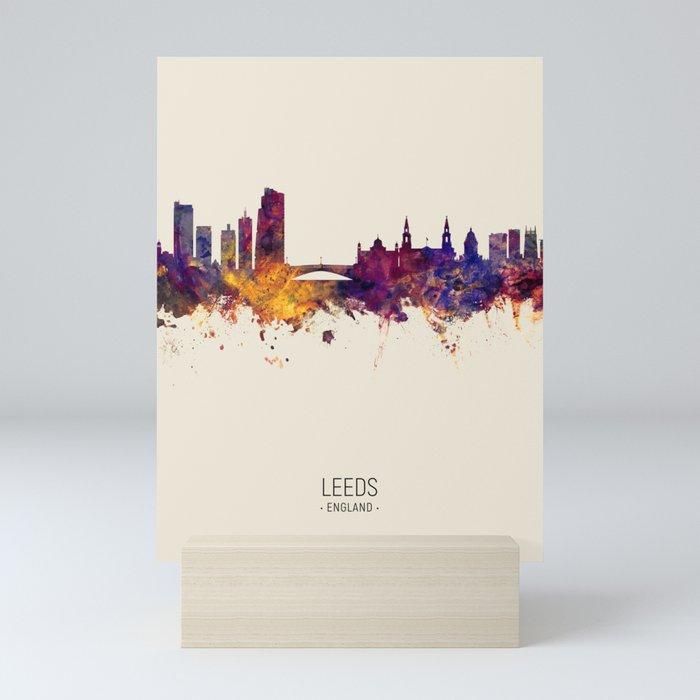 Leeds England Skyline Mini Art Print By Artpause Society6