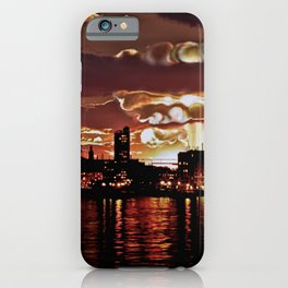 Angry Sunset. iPhone Case