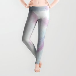 Blue and Pink Cotton Candy Abstract Leggings