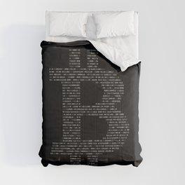 Bitcoin Binary Black Comforters