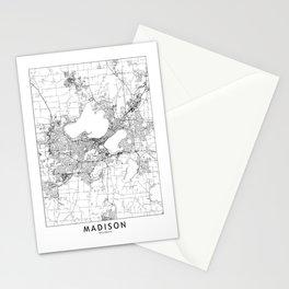 Madison White Map Stationery Cards