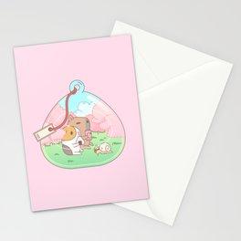 Bubu the Guinea pig, Cherry Blossom Terrarium Stationery Cards
