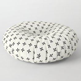 Little Black Flowers Floor Pillow