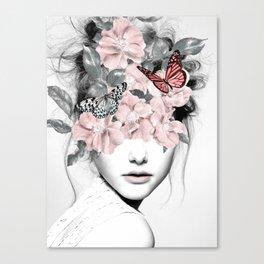 WOMAN WITH FLOWERS 10 Leinwanddruck