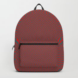Red and sea green squares Backpack