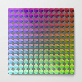 Rainbow pie chart pattern Metal Print