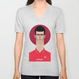 Novak Djokovic Tennis Illustration Unisex V-Neck